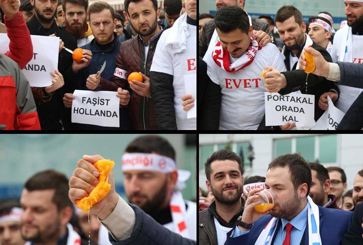 Akp Gençlik Kollarından Hollandaya Sert Tepki Portakal Sıkıp