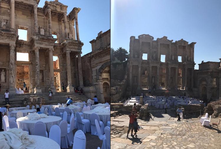 Unesco Listesindeki Efes Antik Kentini Düğün Salonuna çevirdiler
