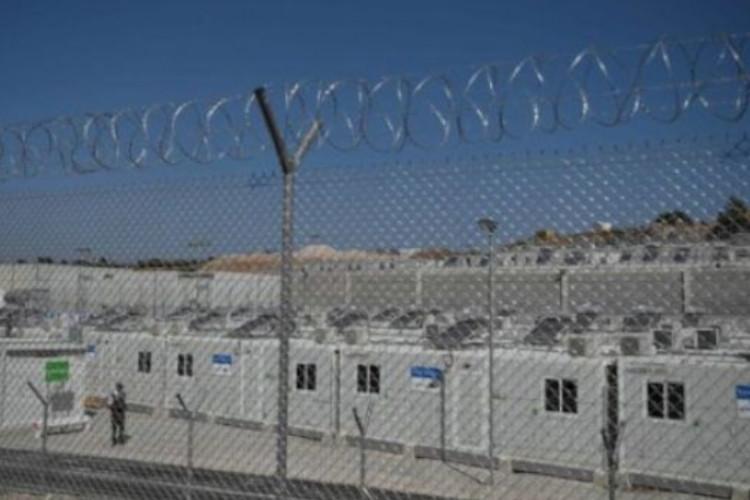 Yunanistan'da cezaevini andıran mülteci kampı kuruldu