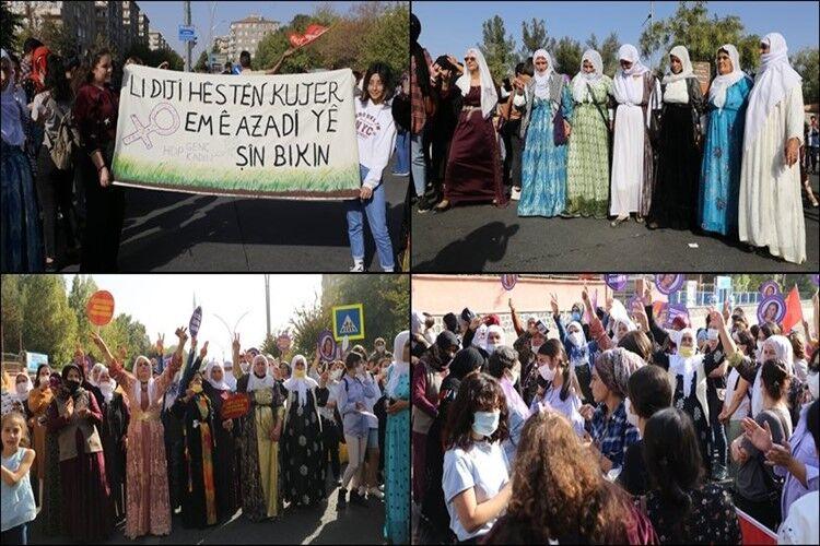 Kadınlar İstasyon Meydanı'ndan haykırdı: Yolun sonunda özgürlük var