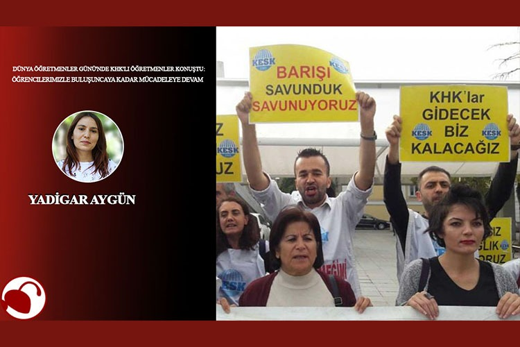 Dünya Öğretmenler Günü'nde KHK'li öğretmenler: Öğrencilerimizle buluşana kadar mücadeleye devam